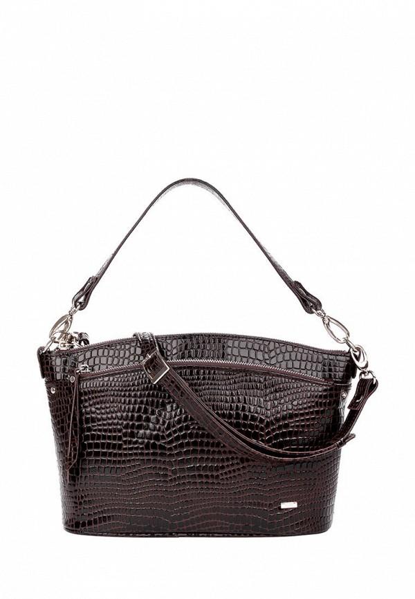 женская сумка с ручками esse, коричневая