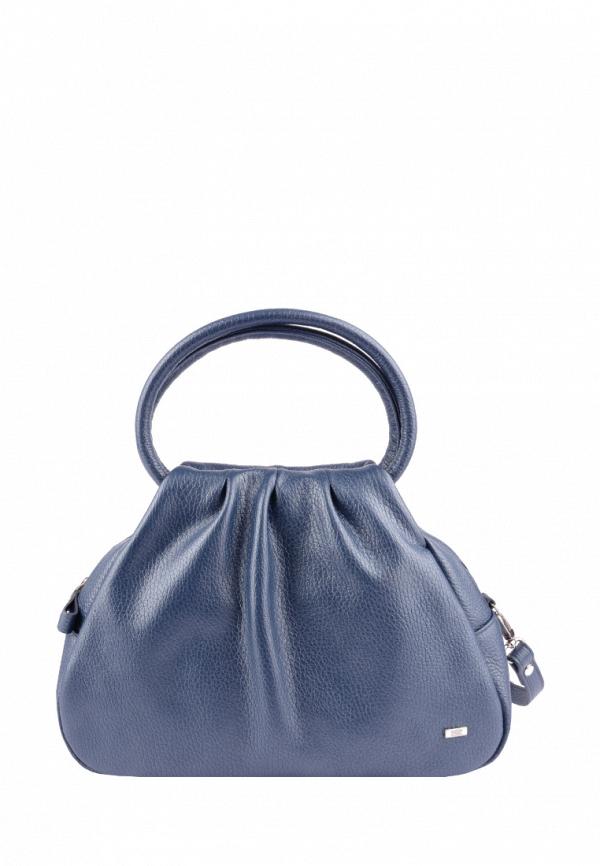 женская сумка с ручками esse, синяя
