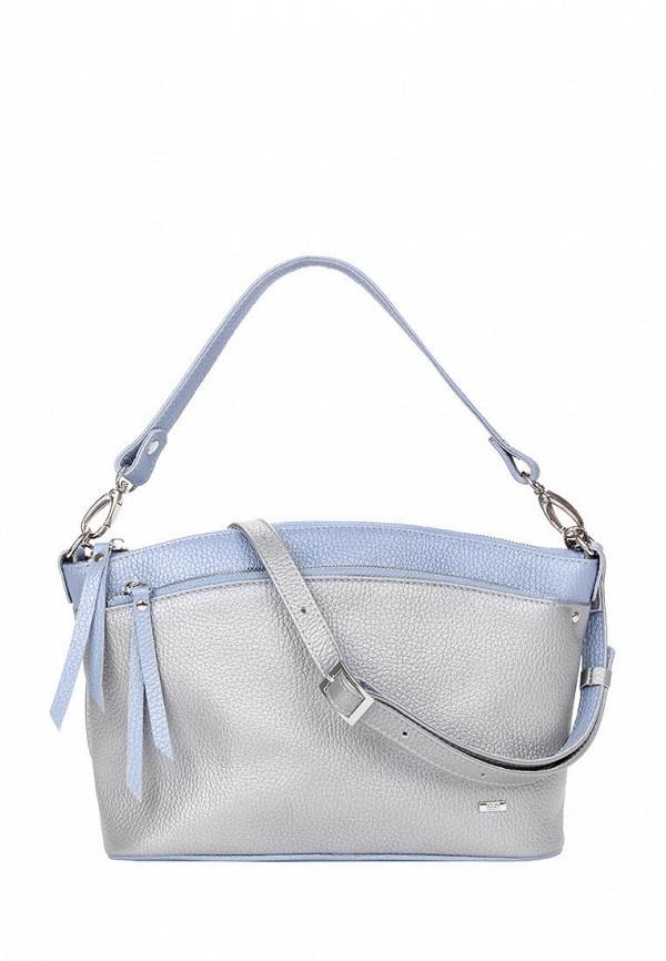 женская сумка с ручками esse, серебряная
