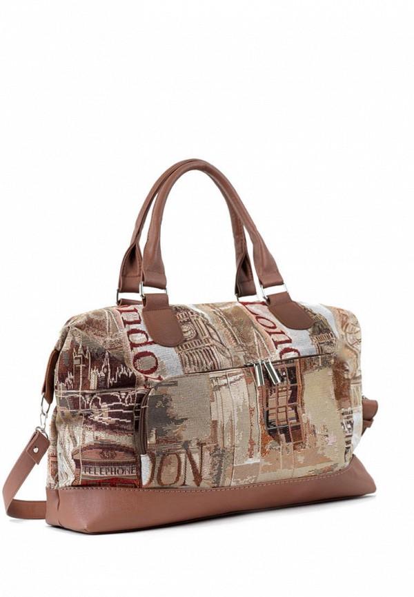 женская дорожные сумка vita, коричневая