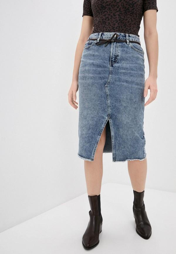 женская джинсовые юбка o'stin, синяя