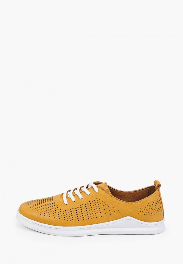 женские низкие ботинки thomas munz, желтые