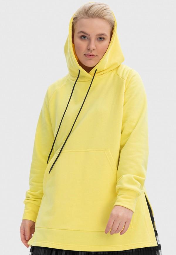 женские худи lessismore, желтые