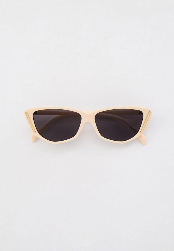 женские солнцезащитные очки кошачьи глаза dorogobogato, бежевые