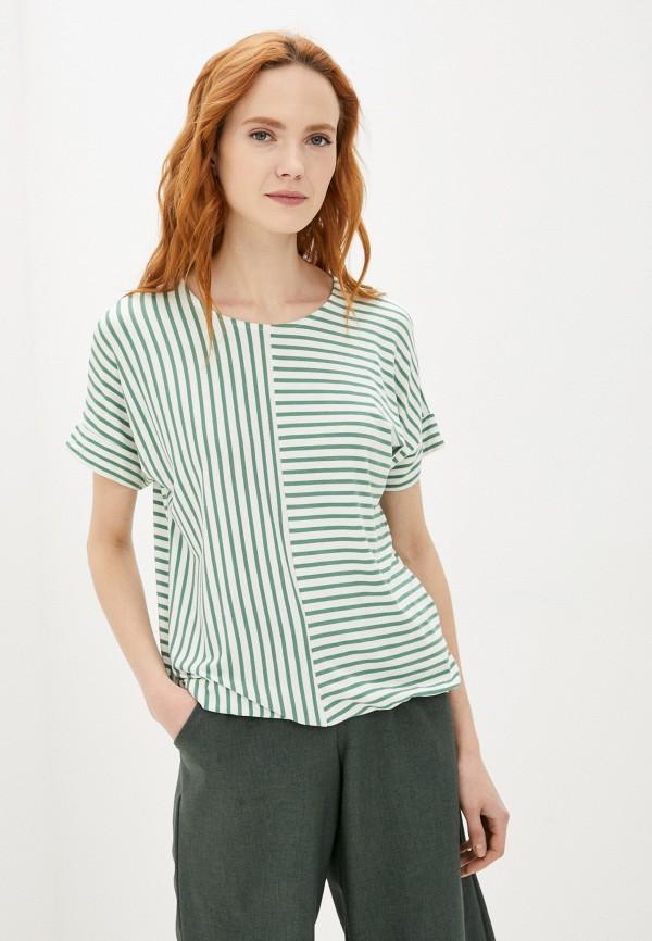женская футболка baon, зеленая