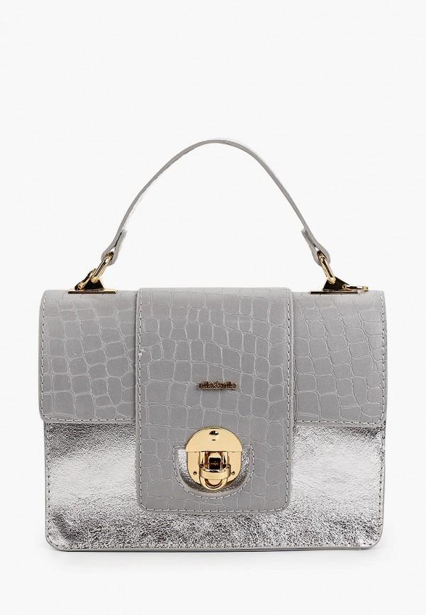 женская сумка с ручками nila&nila, серебряная