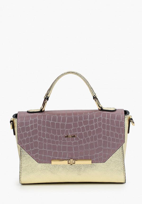 женская сумка через плечо nila&nila, золотая