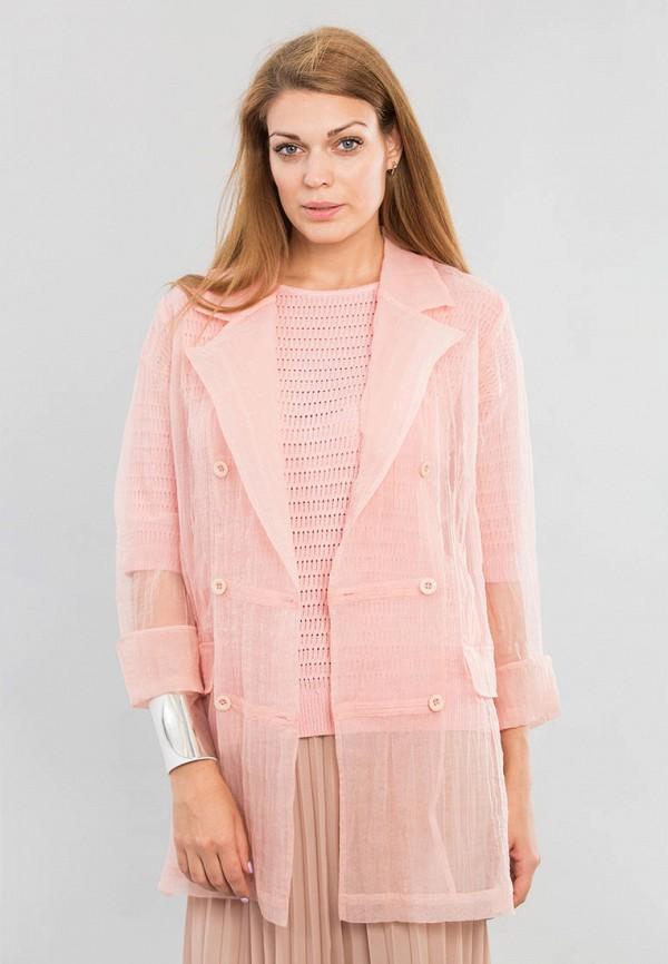 женский жакет maxa, розовый