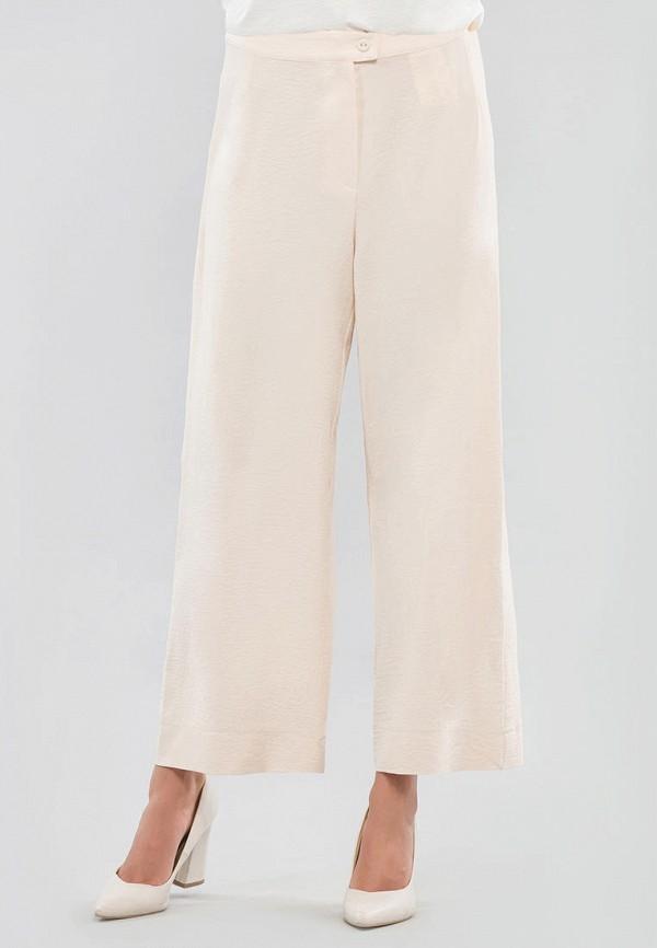 женские брюки клеш maxa, бежевые