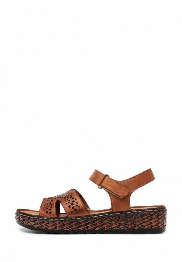 женские сандалии pierre cardin, коричневые