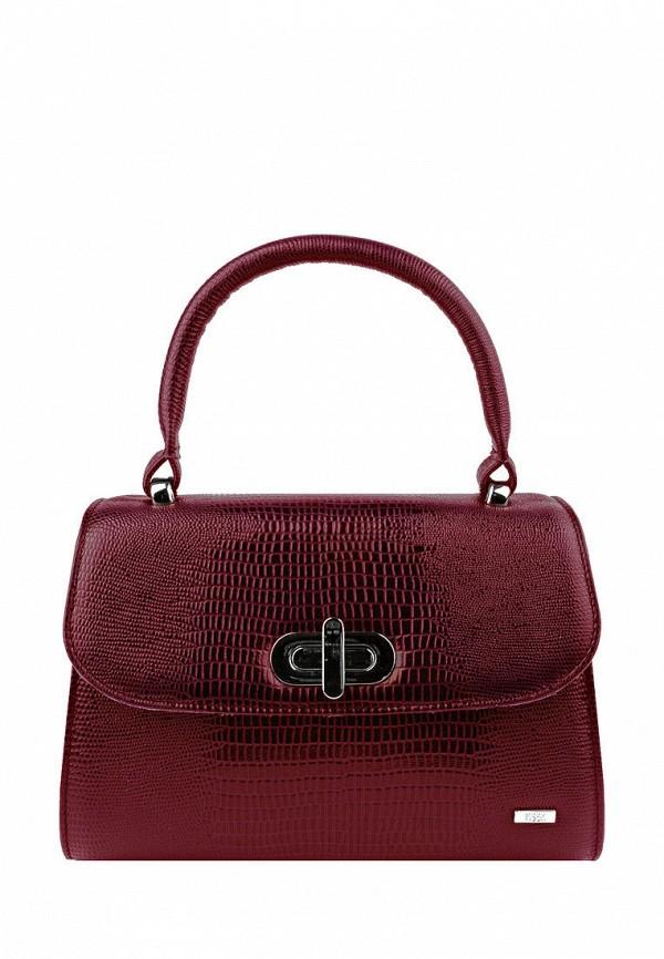 женская сумка с ручками esse, бордовая