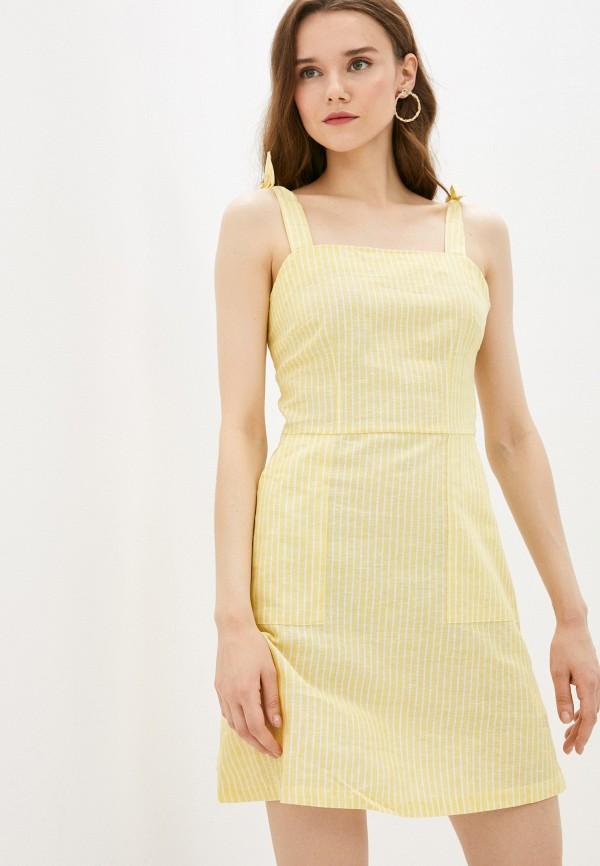 женский сарафан befree, желтый