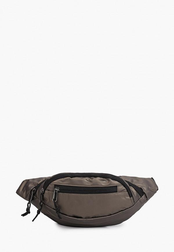 женская поясные сумка leotex, коричневая
