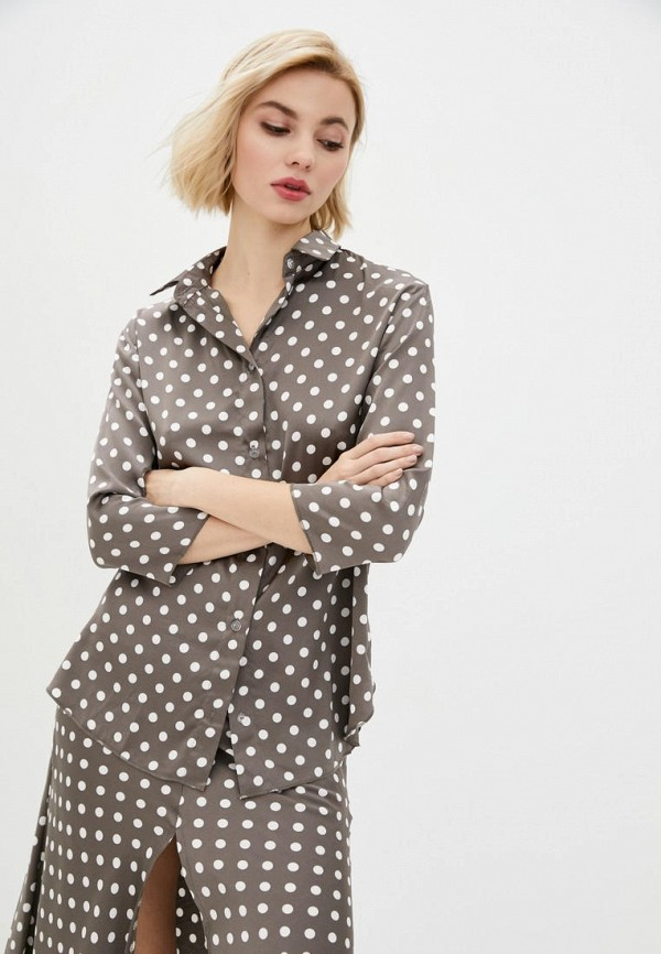 женская блузка garne, коричневая