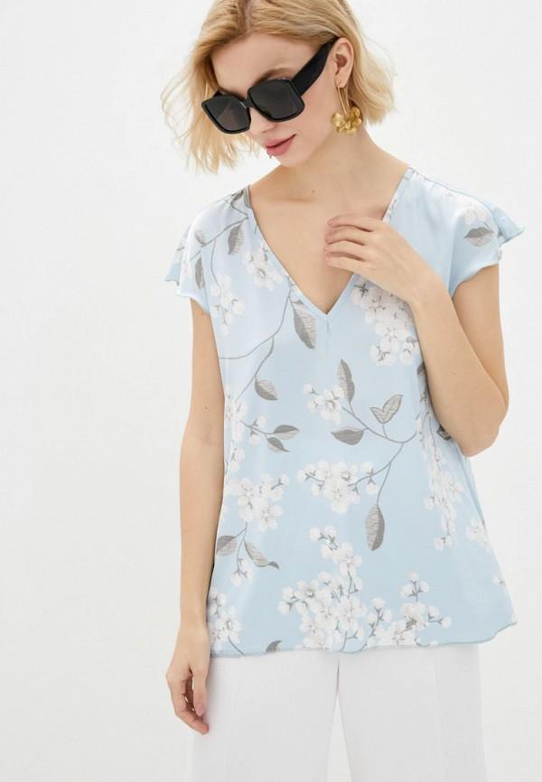 женская блузка garne, голубая