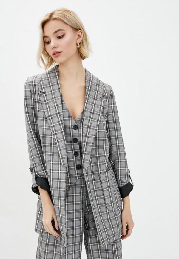 женский пиджак zubrytskaya, серый