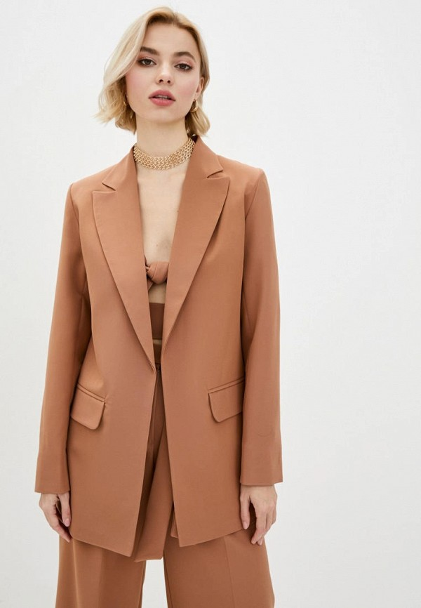 женский пиджак zubrytskaya, коричневый