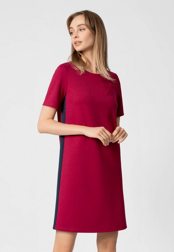 женское повседневные платье pompa, красное