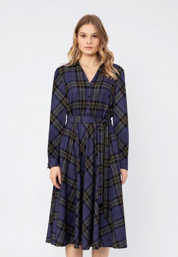 женское повседневные платье pompa, синее