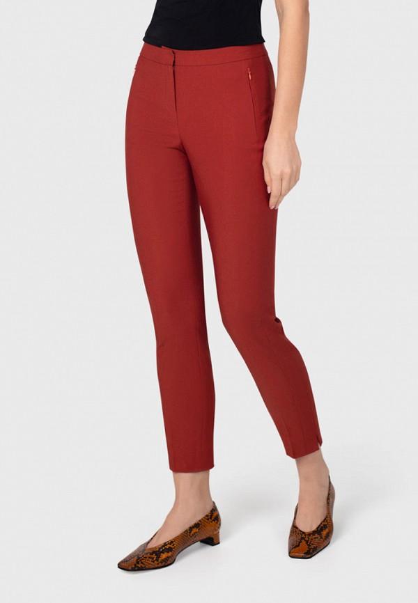 женские зауженные брюки pompa, красные