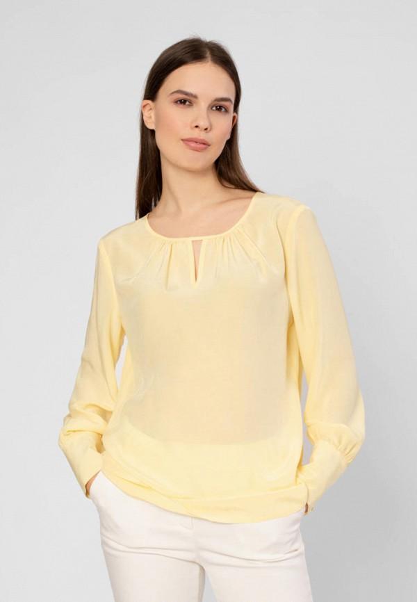 женская блузка с длинным рукавом pompa, желтая