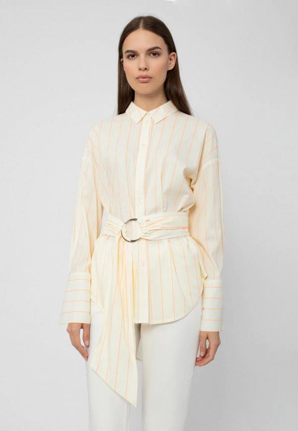 женская рубашка с длинным рукавом pompa, желтая