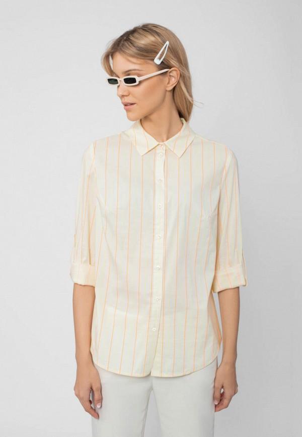 женская рубашка с коротким рукавом pompa, желтая