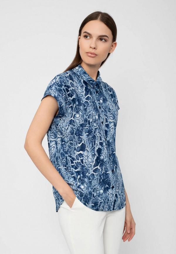 женская блузка с коротким рукавом pompa, синяя