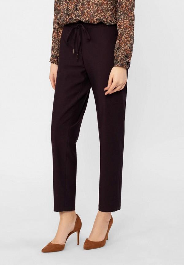 женские повседневные брюки pompa, бордовые