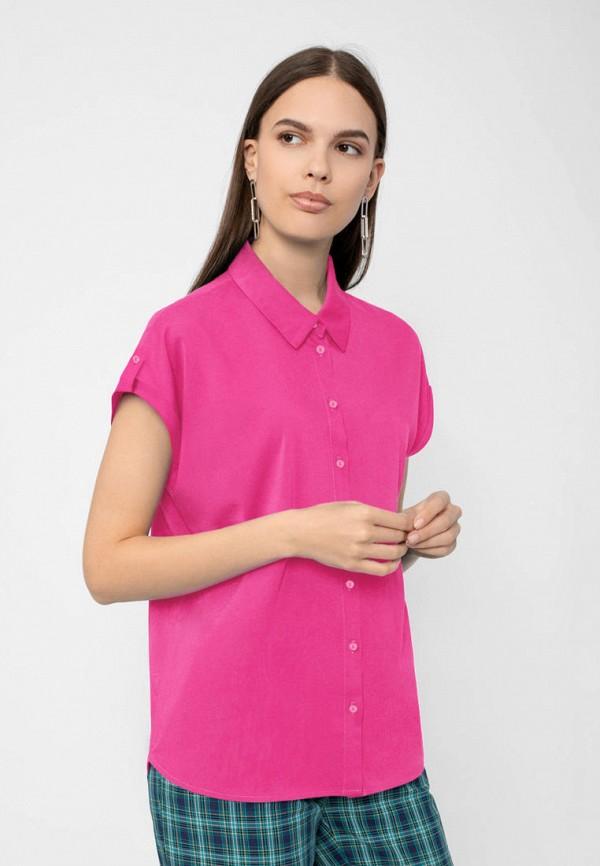женская блузка с коротким рукавом pompa, розовая