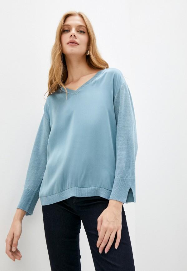 женский пуловер gerard darel, голубой