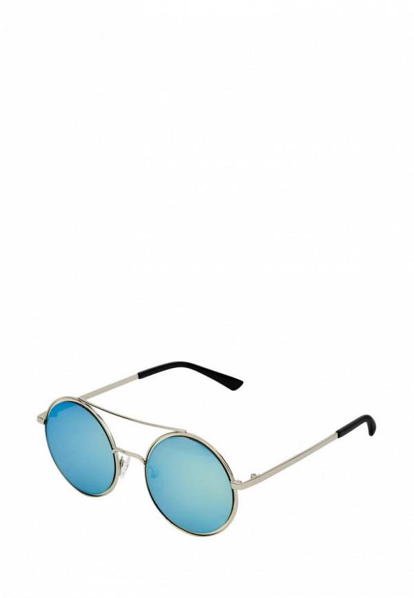 женские круглые солнцезащитные очки kawaii factory, серебряные
