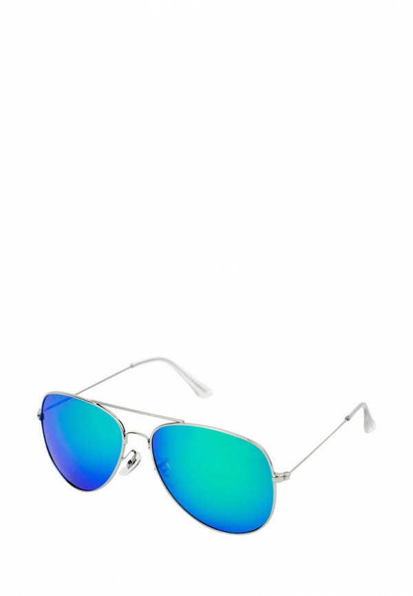 женские авиаторы солнцезащитные очки kawaii factory, серебряные