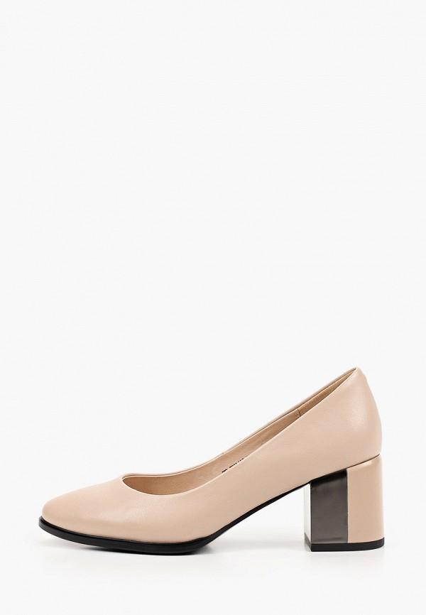 женские туфли с закрытым носом helena berger, бежевые