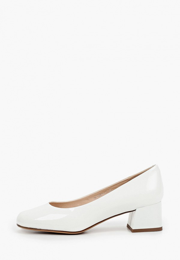 женские туфли с закрытым носом helena berger, белые