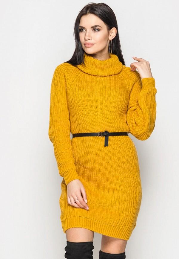 женское платье larionoff, желтое