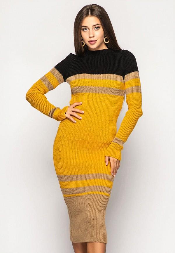 женское платье larionoff, оранжевое