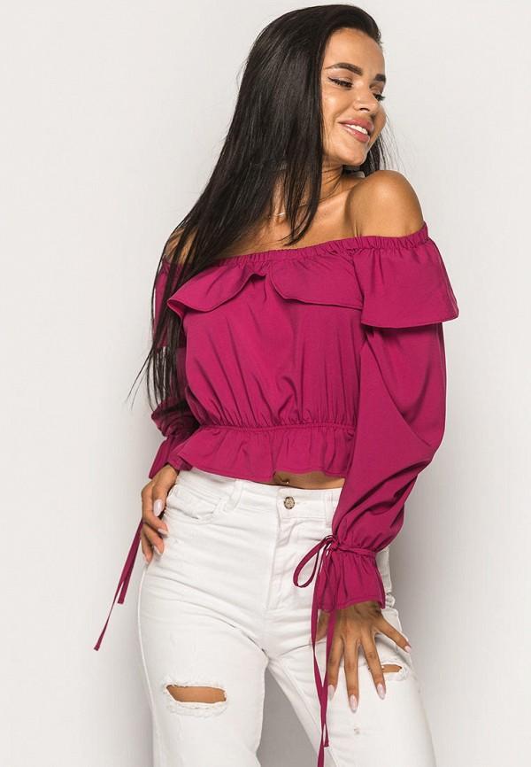 женская блузка larionoff, розовая