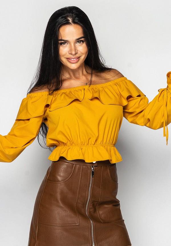 женская блузка larionoff, оранжевая