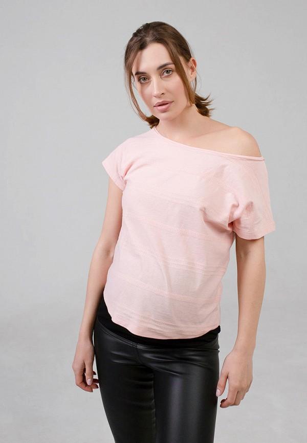 женская футболка disma, розовая