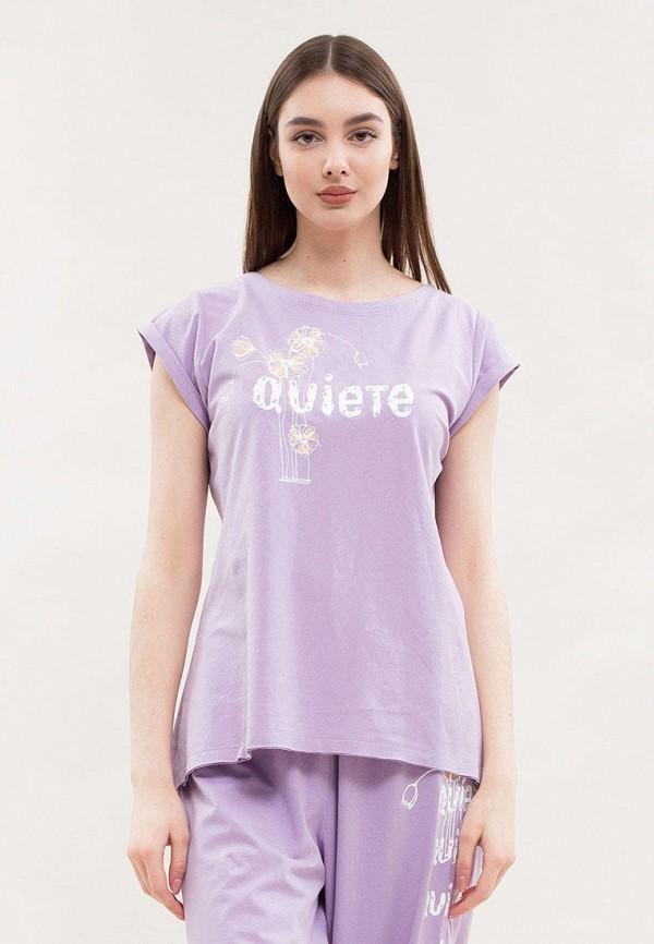 женская футболка maxa, фиолетовая