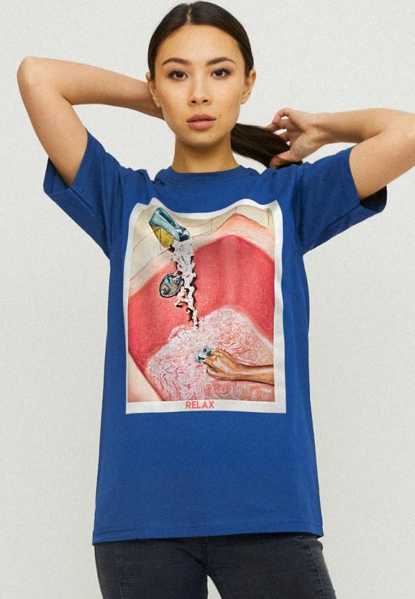 женская футболка yappi, синяя