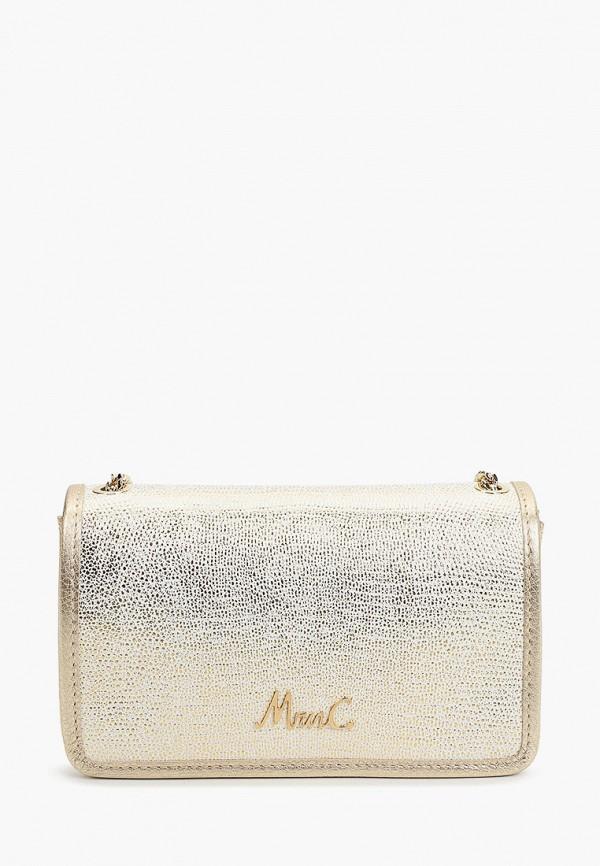 женская сумка через плечо marina creazioni, золотая