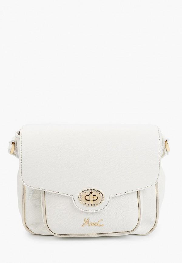 женская сумка через плечо marina creazioni, белая