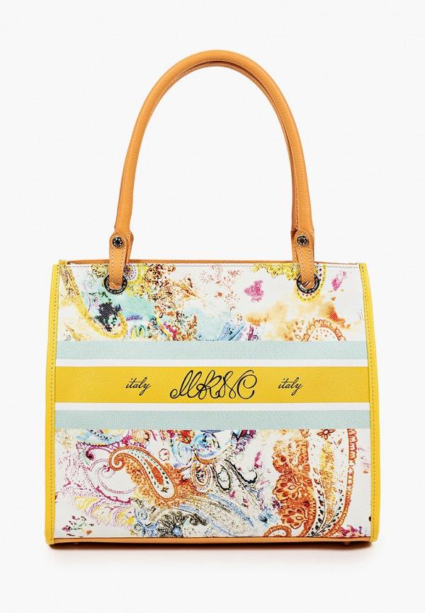 женская сумка с ручками marina creazioni, разноцветная