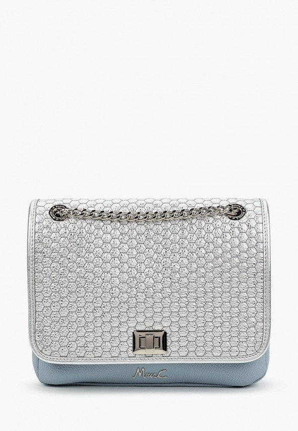 женская сумка через плечо marina creazioni, серебряная