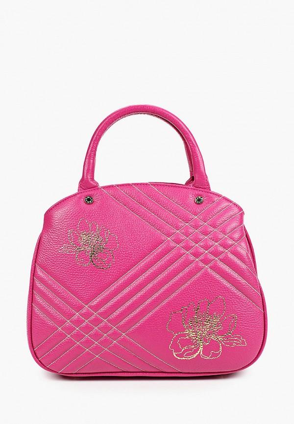 женская сумка через плечо marina creazioni, фиолетовая