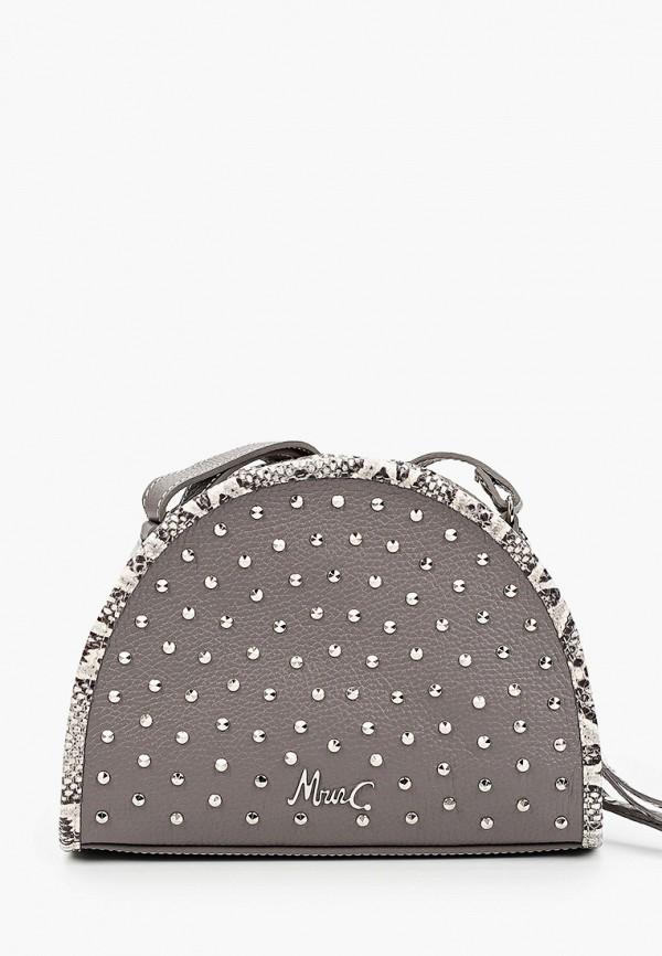 женская сумка через плечо marina creazioni, серая