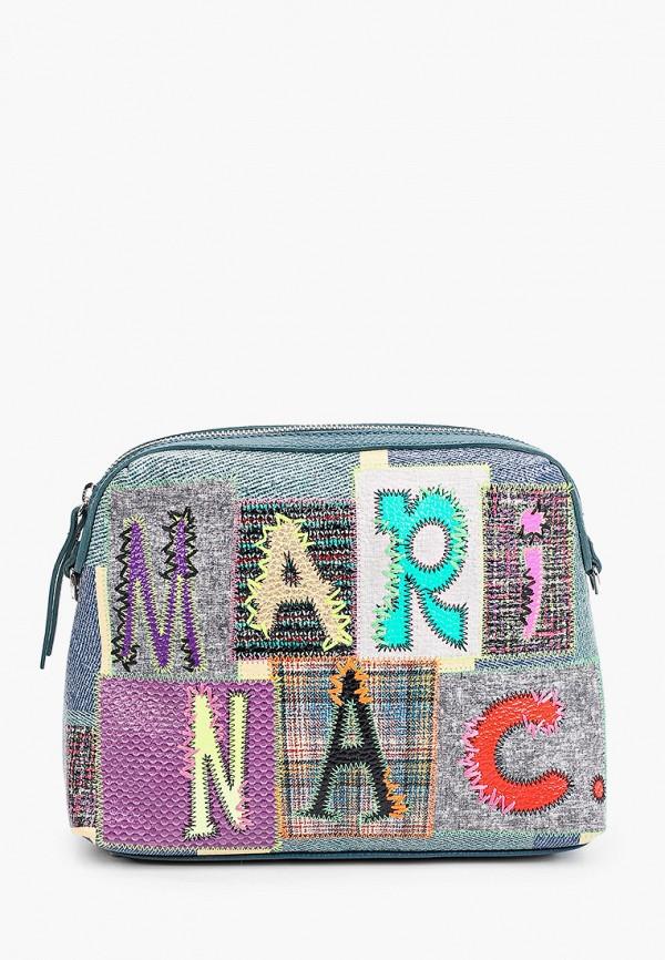 женская сумка через плечо marina creazioni, разноцветная