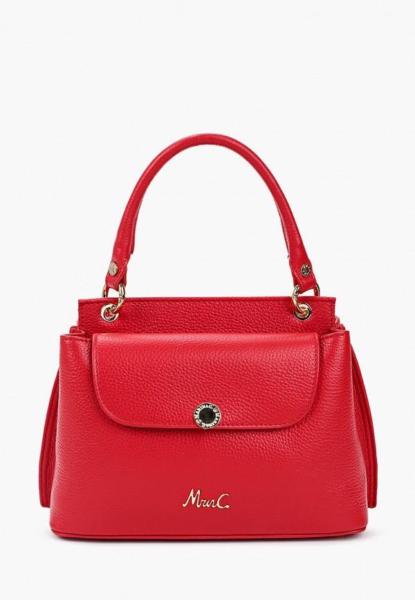 женская сумка через плечо marina creazioni, красная